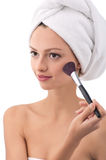 Morning Makeup Stock Photo