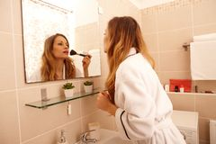 Morning makeup Stock Photos