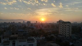 Morning in Mandalay. Sun rise in the morning at Mandalay city Myanmar Royalty Free Stock Images