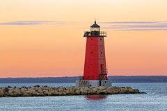Morning at Manistique Lighthouse Stock Photo