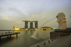 Morning in marina bay Royalty Free Stock Photo