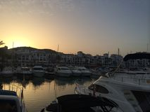 Morning marina Royalty Free Stock Image