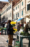 Daily, morning market in Dubrovnik, Croatia Royalty Free Stock Images