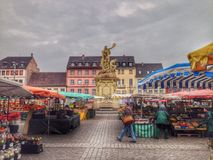 Morning market in Germany Royalty Free Stock Photos