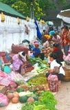Business women at the morning market in Luang Prabang,Laos Royalty Free Stock Image
