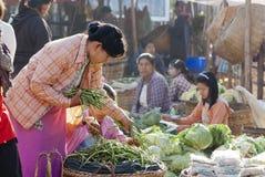 Morning market in Myanmar Royalty Free Stock Photo
