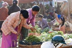 Morning market in Myanmar Stock Image