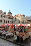 Morning market in the old town of Dubrovnik Croatia royalty free stock photography