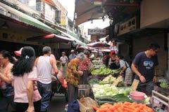 Morning market in Taibei,Taiwan. Stock Image