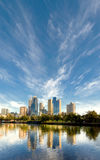 Morning in melbourne reflected in the yarra river Royalty Free Stock Photo