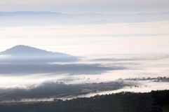 Morning Mist. Early morning mist settled in a valley, Queensland, Australia Stock Image
