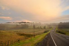 Morning mist. Early morning mist over farmland Royalty Free Stock Photography