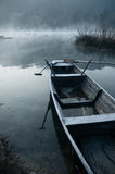 Morning mist in the boat. Boat in the morning mist Stock Photos