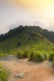 Morning mist of Broga Hill, Malaysia Stock Photos