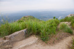 Morning mist of Broga Hill, Malaysia Royalty Free Stock Photo