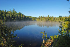 Morning mist in Canoe Country Royalty Free Stock Photo