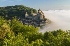 Morning mist, Castelnaud, Dordogne, Aquitaine, Stock Images