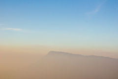 Morning mist cover at mountain Royalty Free Stock Photo