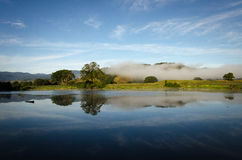 Morning Mist on the Daintree River Stock Photography