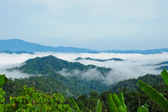 Morning mist at Kaeng Krachan Royalty Free Stock Photo