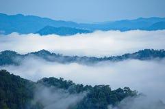 Morning mist at Kaeng Krachan Royalty Free Stock Images