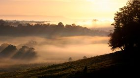 Morning mist in Milton Stock Image