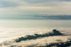 Morning Mist with Mountain ,sea of mis.  Royalty Free Stock Photography