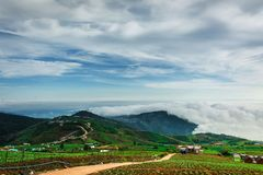 Morning Mist with Mountain ,sea of mis.  Stock Photos
