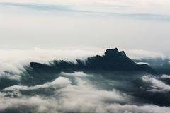 Morning Mist with Mountain ,sea of mis.  Royalty Free Stock Image