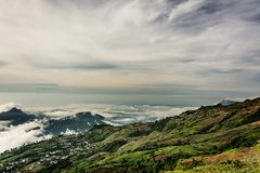 Morning Mist with Mountain ,sea of mis.  Stock Images