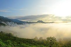Morning mist and mountains at Phu Lang Ka Royalty Free Stock Photography