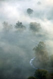 Morning mist on Mures Valley Royalty Free Stock Images