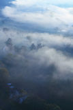 Morning mist on Mures Valley Stock Photo