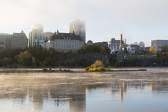 Morning Mist on the Ottawa River Royalty Free Stock Image