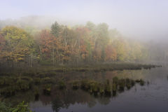 Morning mist over a lake Royalty Free Stock Photography
