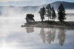Morning mist over the lake Royalty Free Stock Image