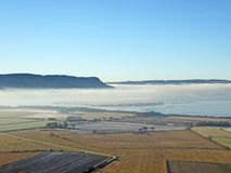 Morning mist over Loch Leven, Scotland stock photography