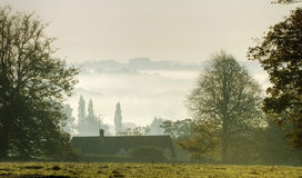 Morning Mist over Nailsworth Royalty Free Stock Photography