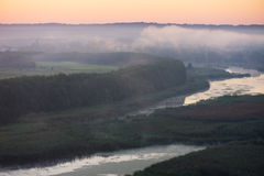 Morning mist over the river Stock Photo