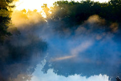Morning mist over river Royalty Free Stock Photography