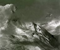 The morning mist reveals the alpine peaks - Austria, Tyrol Royalty Free Stock Photo