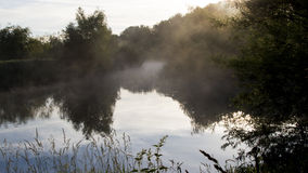 Morning mist on the river Royalty Free Stock Photos