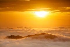 Morning Mist in Songkla, Thailand 1. Morning Mist in Songkla, Thailand on the of Kho Hong Mountain Stock Photo