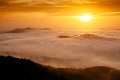 Morning Mist in Songkla, Thailand. On the of Kho Hong Mountain Royalty Free Stock Photography