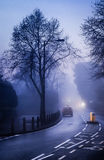 Morning mist in town Royalty Free Stock Photo