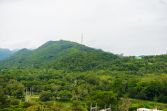 Morning Mist at Tropical Mountain Range, in the Kaeng Krachan na Stock Photos