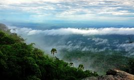 Morning Mist at Tropical Mountain Range,This place is in the Kaeng Krachan national park,Thailand Stock Image