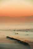 Morning mist in the valley Royalty Free Stock Photography