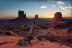 Morning at the Monument Valley. Utah. Royalty Free Stock Photo