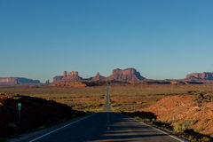 Morning at the Monument Valley. Utah. Stock Images